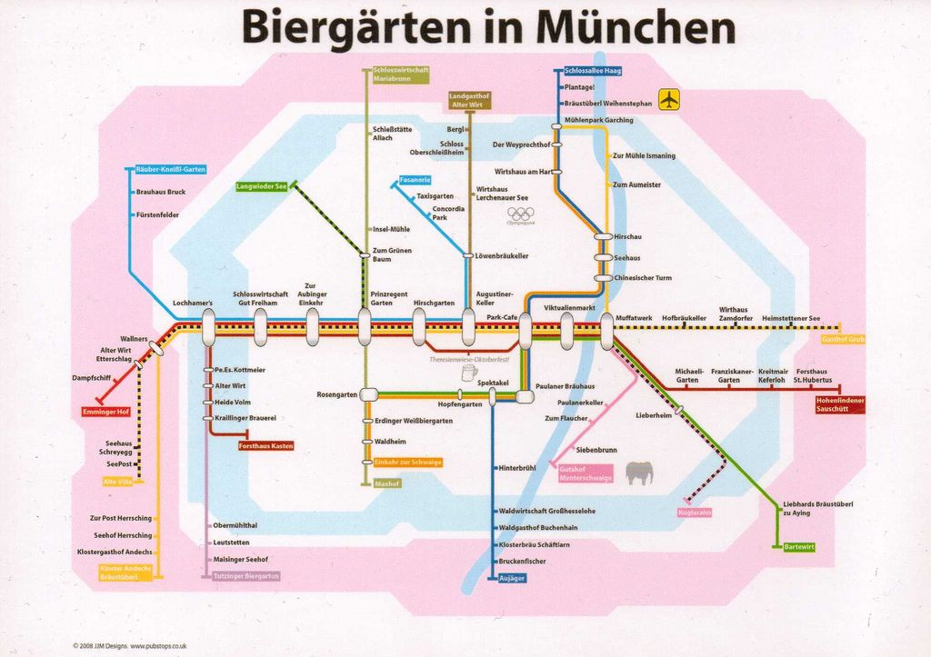 Marvelous Biergarten S Bahn Plan M nchen good way to get to a Biergarten using public transport John Coats from the UK had this wonderful idea just love it