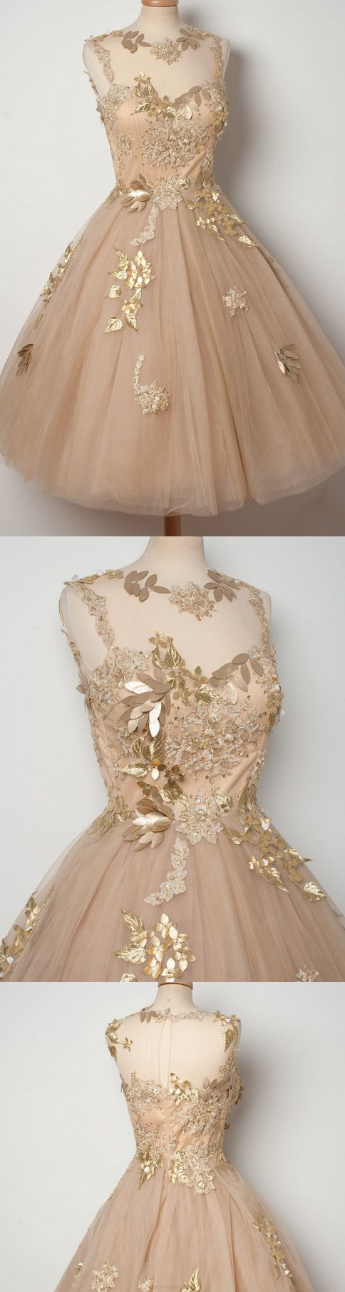 Applique homecoming dresses champagne alineprincess homecoming