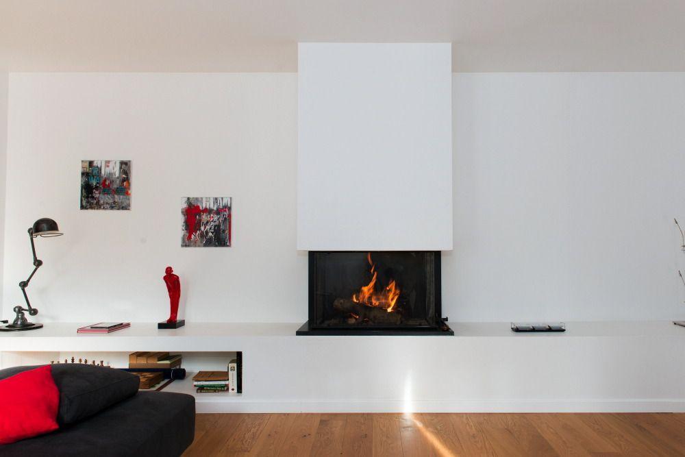 cheminee moderne foyer ouvert