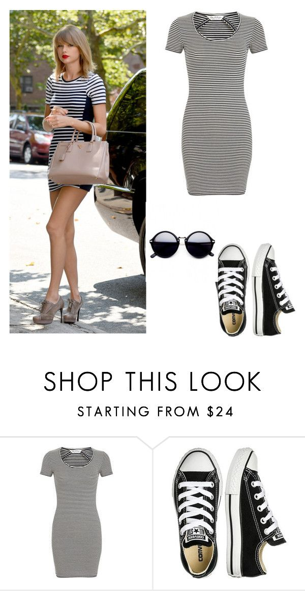 """""""My First Polyvore Outfit"""" by taalitacristina ❤ liked on Polyvore featuring Prada, Miss Selfridge and Converse"""