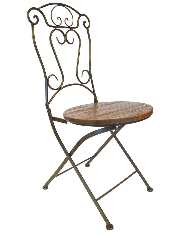 Sedia in ferro battuto lavorato e seduta in legno a noleggio ...