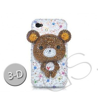 Bear 3D Swarovski Crystal Bling iPhone Cases - White   Check it out here >> https://t.co/BLUSEbcobU #iPhonecases #iPhone