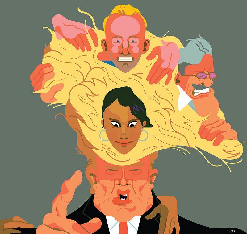 Ian Ziering, Geraldo Rivera and Vivica A Fox in Donald Trump's Celebrity Apprentice   by Sam Vanallemeersch