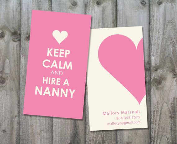 Nannybabysitting business card keep calm and hire a nanny nannybabysitting business card keep calm and hire a nanny fbccfo Image collections