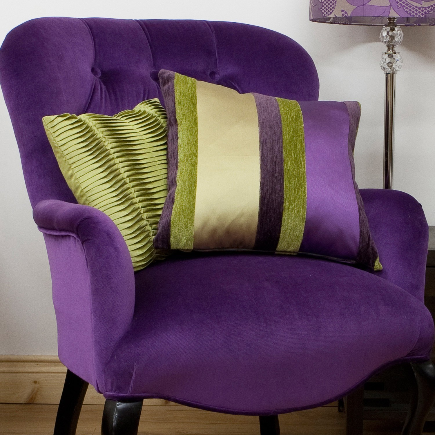 Decorating With The Color Purple Purple Chair Purple Sofa And - Purple decorative bedroom pillows
