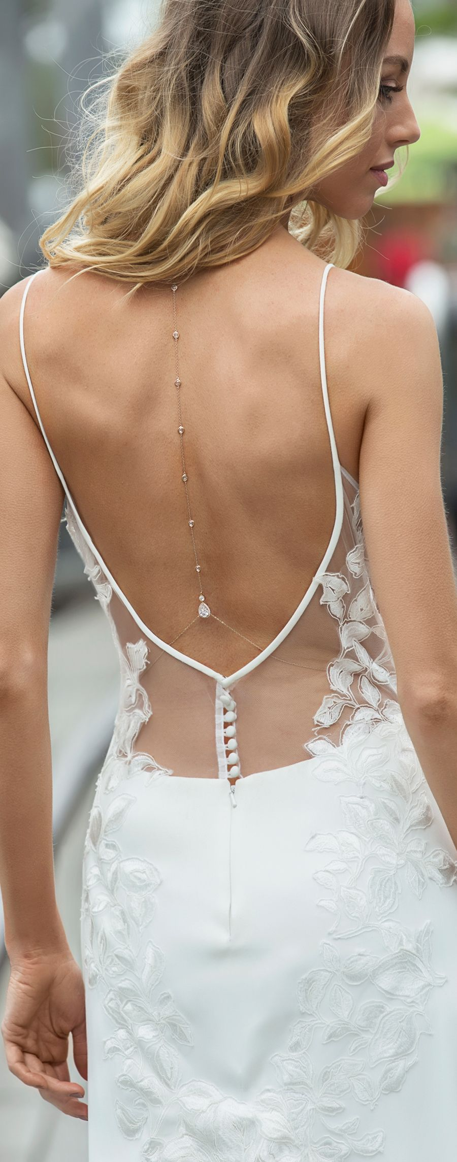 Enjoying the back necklace lingerie pinterest backless wedding
