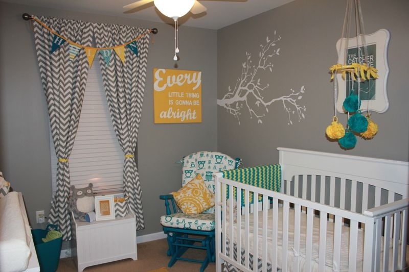 Sweet Child S Nursery Design In Gray Blue And Yellow Neutral