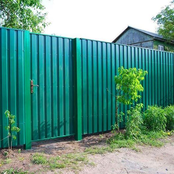 Заборы в Новосибирске купить забор из профнастила ...