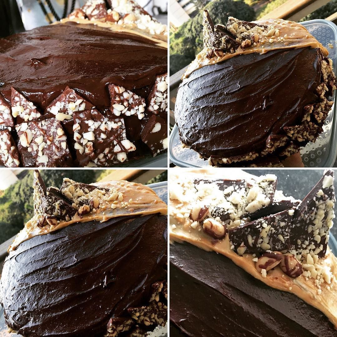 Who said eating healthy had to be difficult??!! Unrefined sugar dairy gluten and wheat free chocolate peanut butter cake- low in carbs and high in protein... I wish it was for me  #baking #cleancheat #healthytreat #sugarfree #glutenfree #dairyfree #chocolate #peanutbutter #birthdaycake #lowcarb #banting #highprotein #questnutrition #leangourmetsyrups #myhappyplace #happysunday by joannajayne03