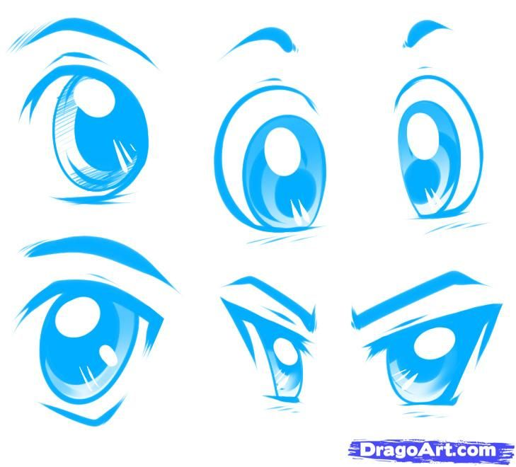 How To Draw Anime Male Eyes, Step By Step, Anime Eyes