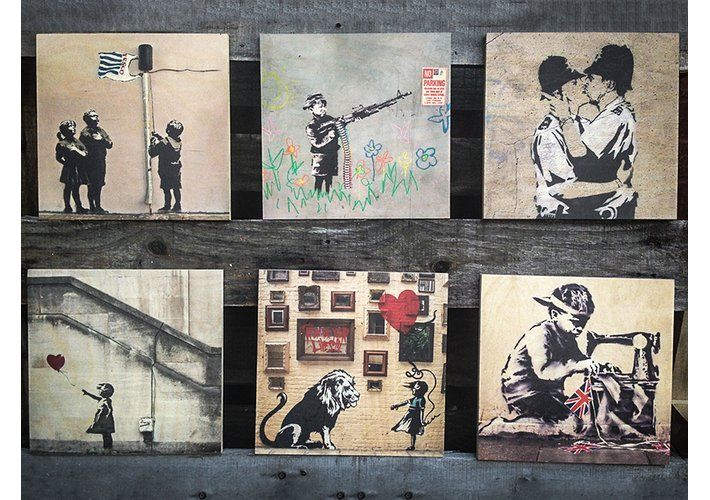 Banksy Urban Art Printed on Wood in a Choice of Sizes - Southeast London: Amazon Local