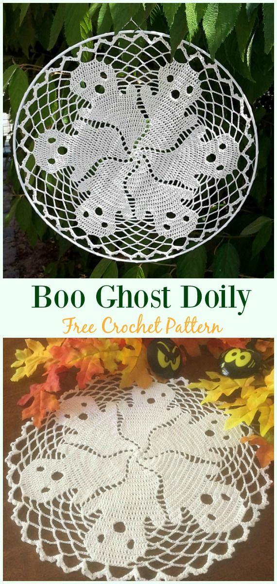 Boo Ghost Doily Crochet Free Pattern Crochet Doily Free