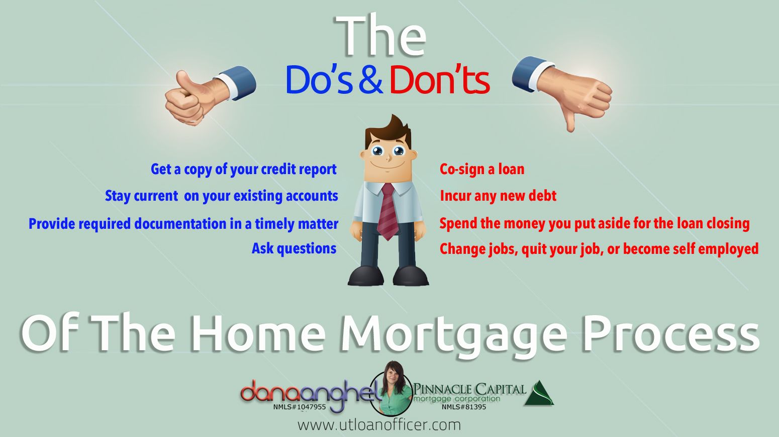 Do And Don T Of Mortgage Process When Getting A Mortgage Loan In Kentucky For Fha Va Khc Usda Fannie Mae Ky Home Buying Process Home Buying Changing Jobs
