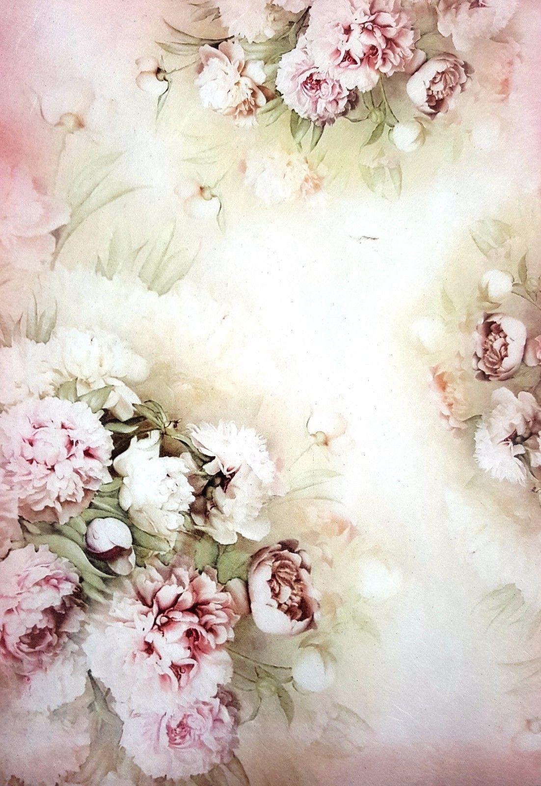 Rice Paper for Decoupage Scrapbooking Sheet Vintage Rose Bouquet