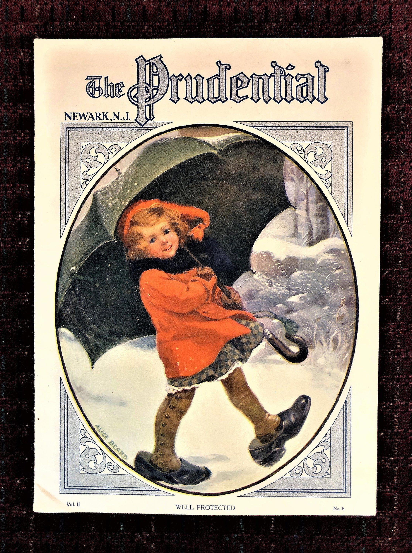 Antique 1913 prudential life insurance etsy umbrella