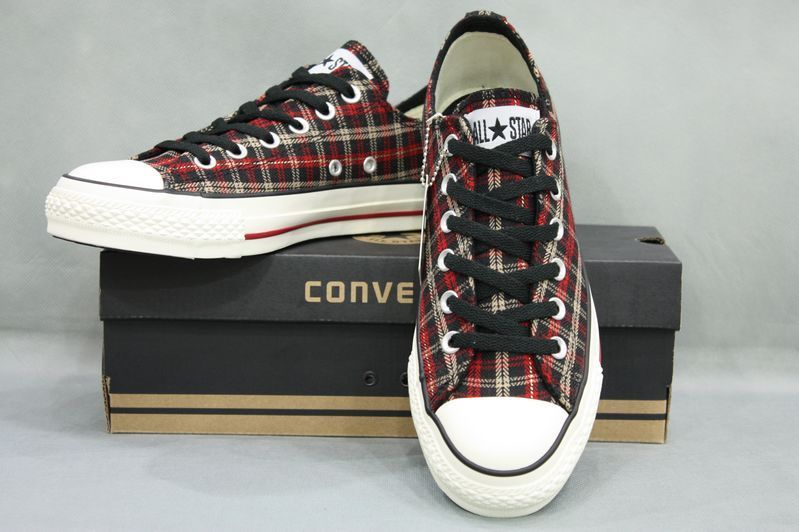 converse star player, Converse all star plaid low top