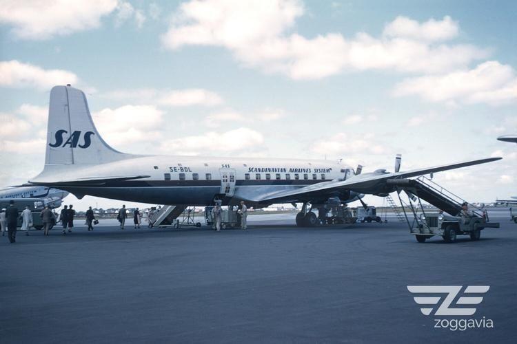 SE-BDL Douglas DC-6 SAS, 1950s