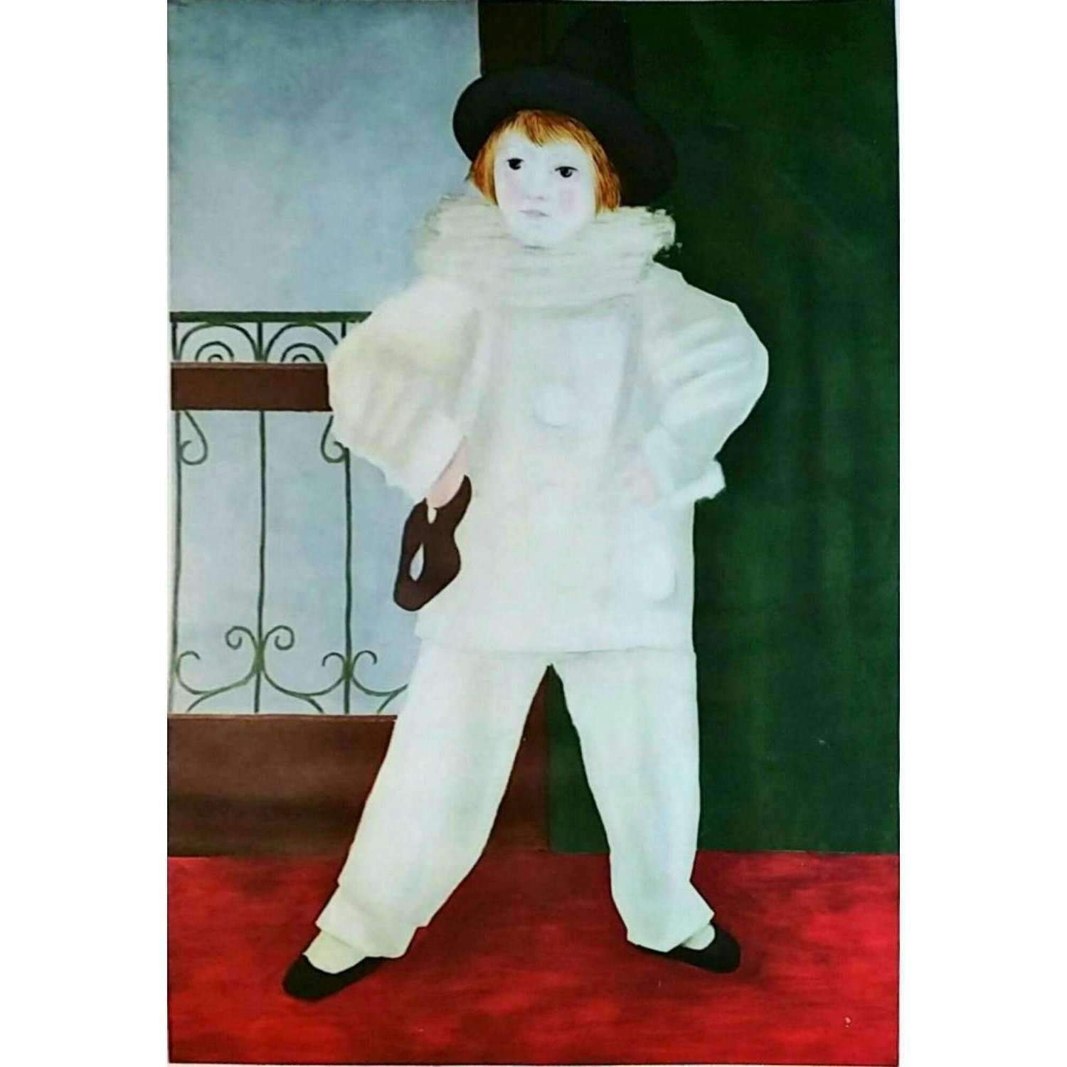 Pablo Picasso Paul as Pierrot with Mask 1940 Original Lithograph