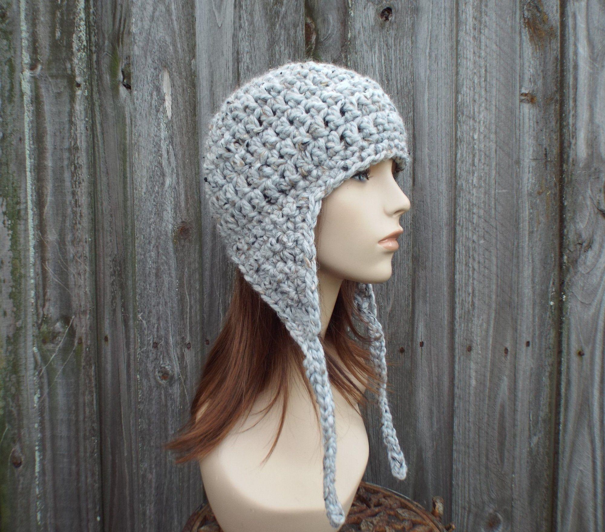 Mens Hat Crochet Hat Womens Hat Winter Hat Chunky Hat Ear Flap Etsy Crochet Hats Ear Flap Hats Crochet Hats Free Pattern