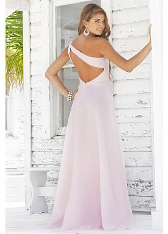 Stunning Chiffon  A-line One Shoulder  Prom Dress