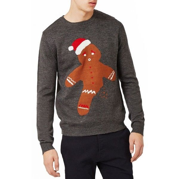 Men's Topman Gingerbread Man Sweater ($55) ❤ liked on Polyvore ...