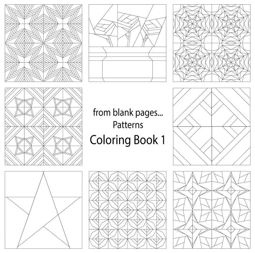 Printable quilt pattern coloring pages - Creative Cats Coloring Book Not Just For Kids