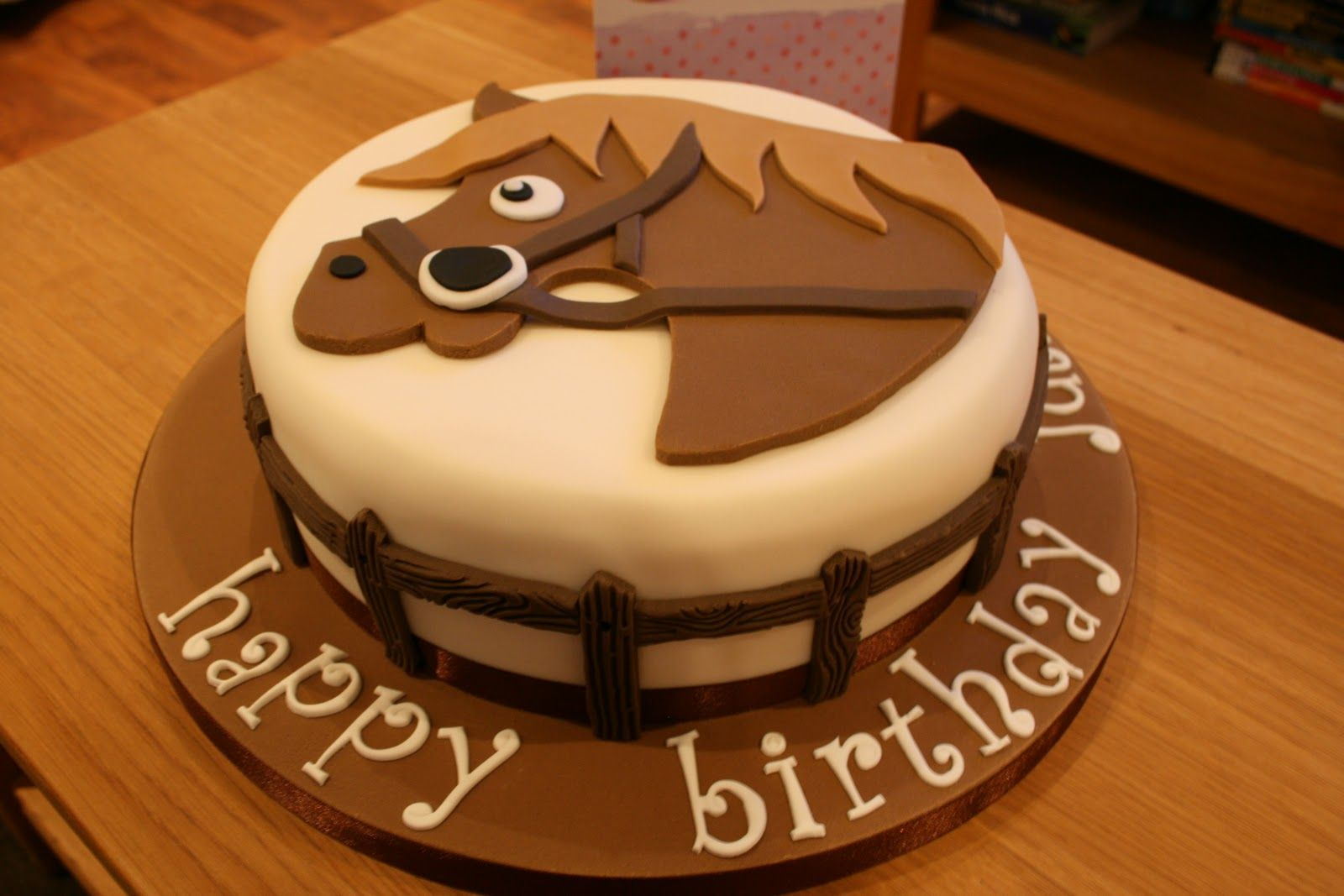 how to make a fondant horse Birthday Cake for Horse Lovers