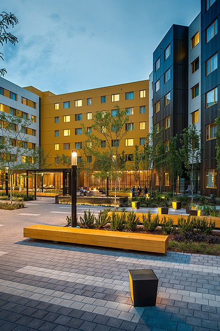 Yellow Used In This Modern Plaza By Lango Hansen Landscape
