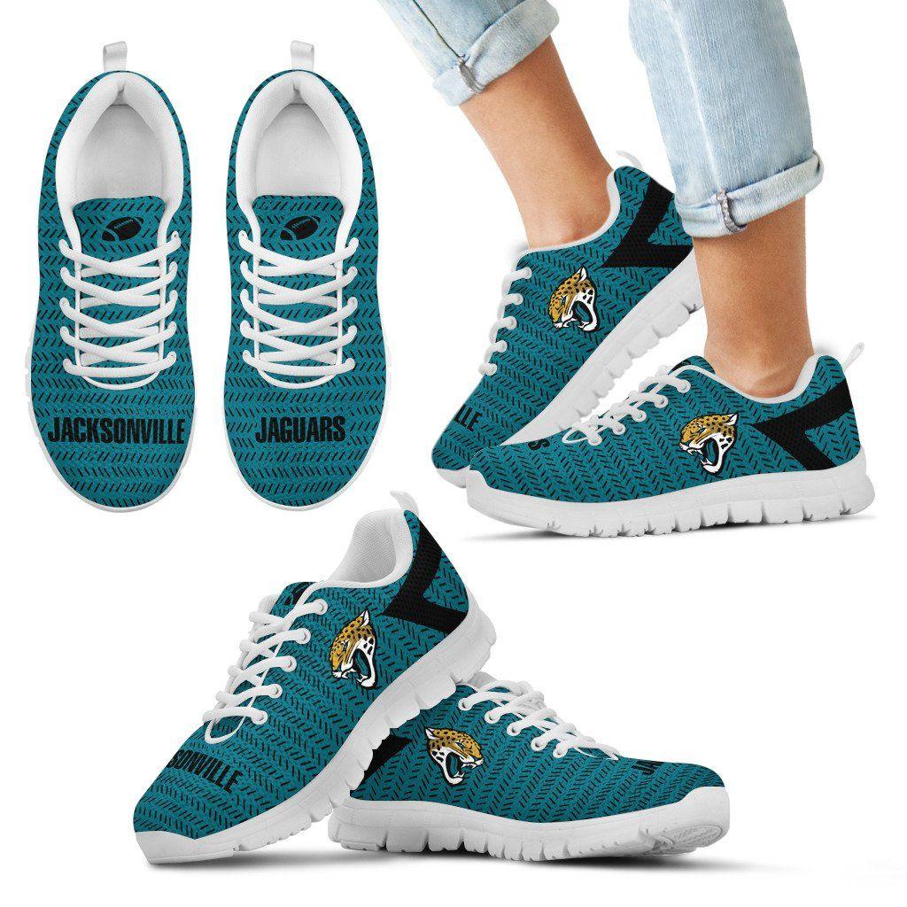 super popular cbbec e971f Pattern Logo Slide In Line Jacksonville Jaguars Sneakers ...