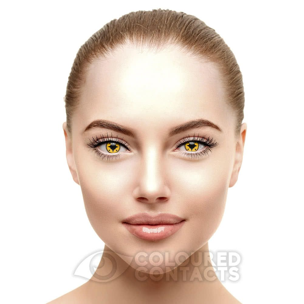 Shukaku 90 Day Coloured Contact Lenses Yellow Coloured Prescription Contact Lenses Contact Lenses Colored Colored Contacts