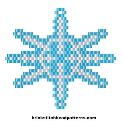 Free Big Christmas Winter White Snowflake Brick Stitch Beaded ...