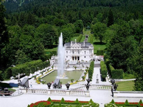 Linderhof Castle Linderhof Palace Aerial Images Castle