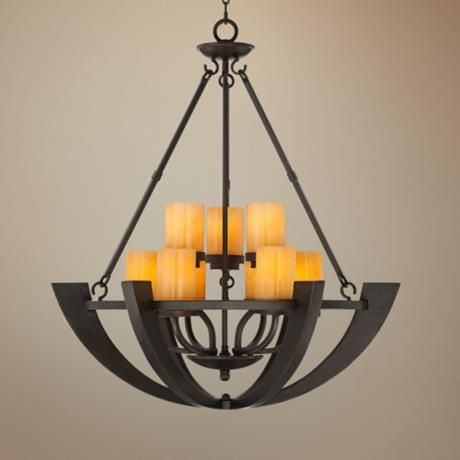 Sunset onyx stone 9 light entry large candle chandelier style sunset onyx stone 9 light entry large candle chandelier r6699 lamps plus aloadofball Image collections