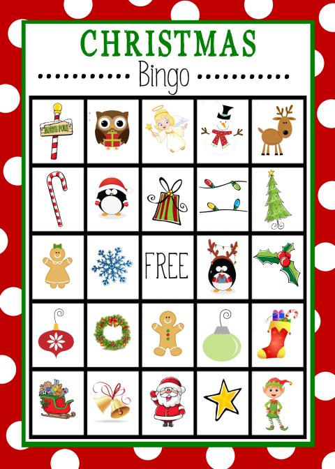 free printable christmas bingo cards for large groups