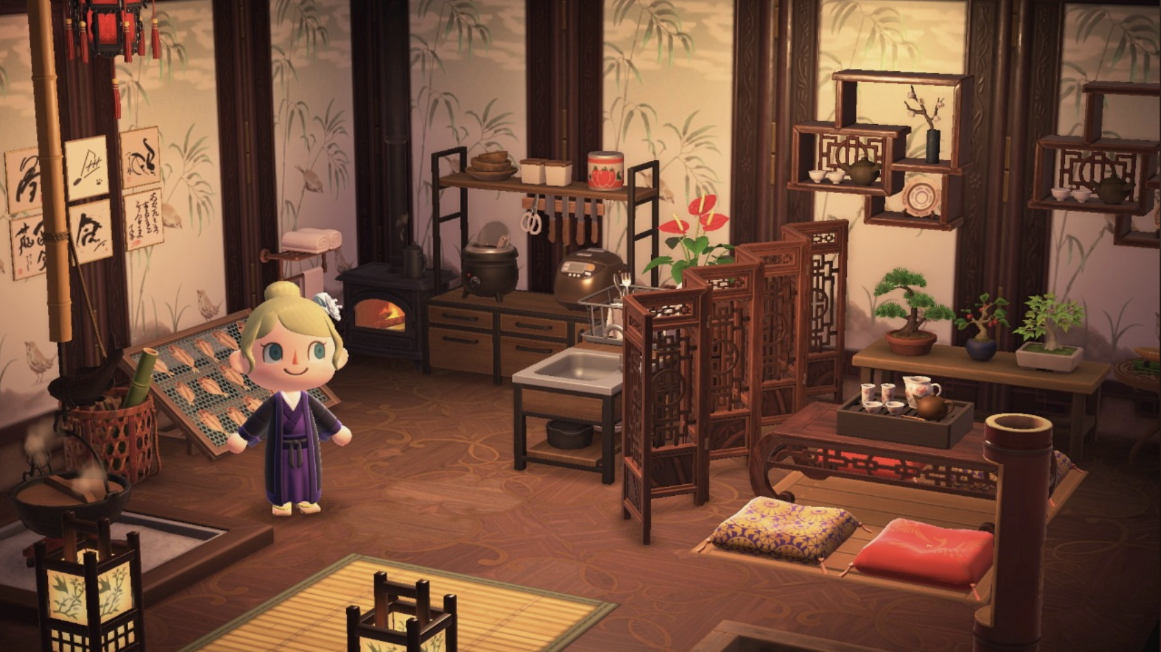 Animal Crossing Room Design Tips Using Dividers And Rugs Room Design Animal Crossing Design