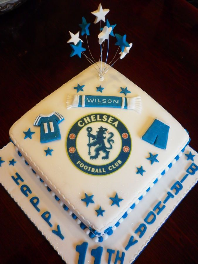 In Chelsea Football Cake Album Birthday Cakes Cakepins Com