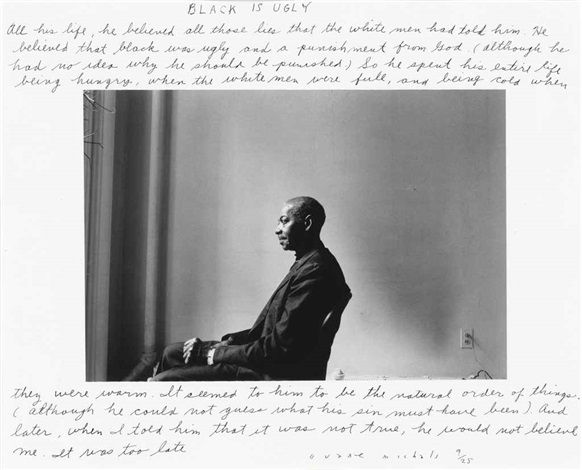Black is ugly by Duane Michals