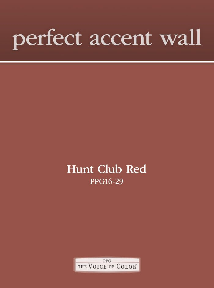 Inspiration For A Perfect Accent Wall Paint Color Red Is Great Creating Bold Try Ppg Voice Of Deep Hue Hunt Club