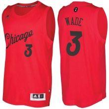 Men s Chicago Bulls  3 Dwyane Wade adidas Red 2016 Christmas Day NBA Swingman  Jersey  d24fe19eb