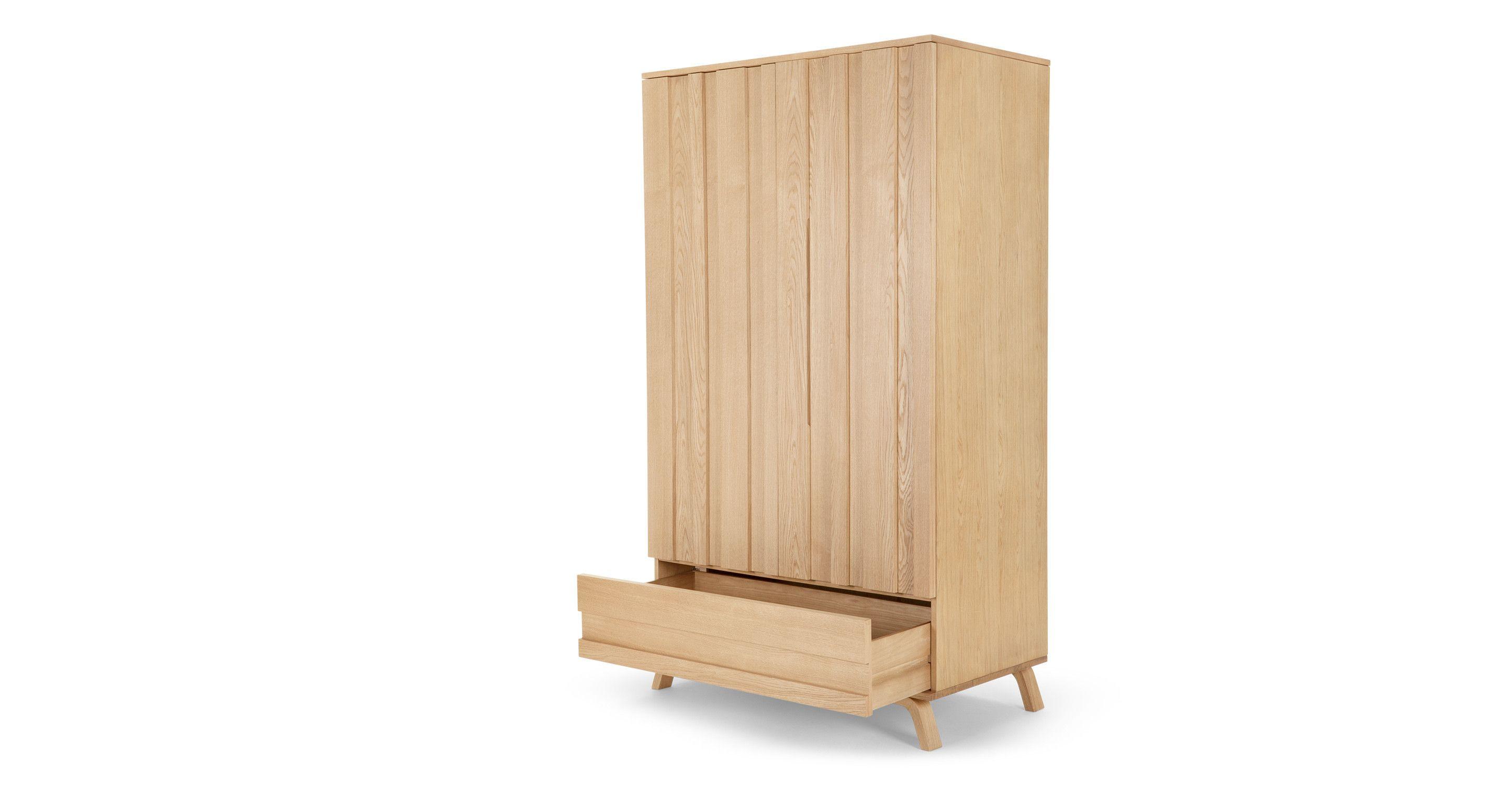 Luka wardrobe oak storage furniture schrank schlafzimmer