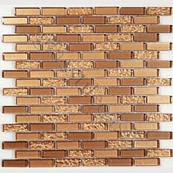 Copper Uniform Brick Bronzecopper Crystile Blends Glossy Glass Tile