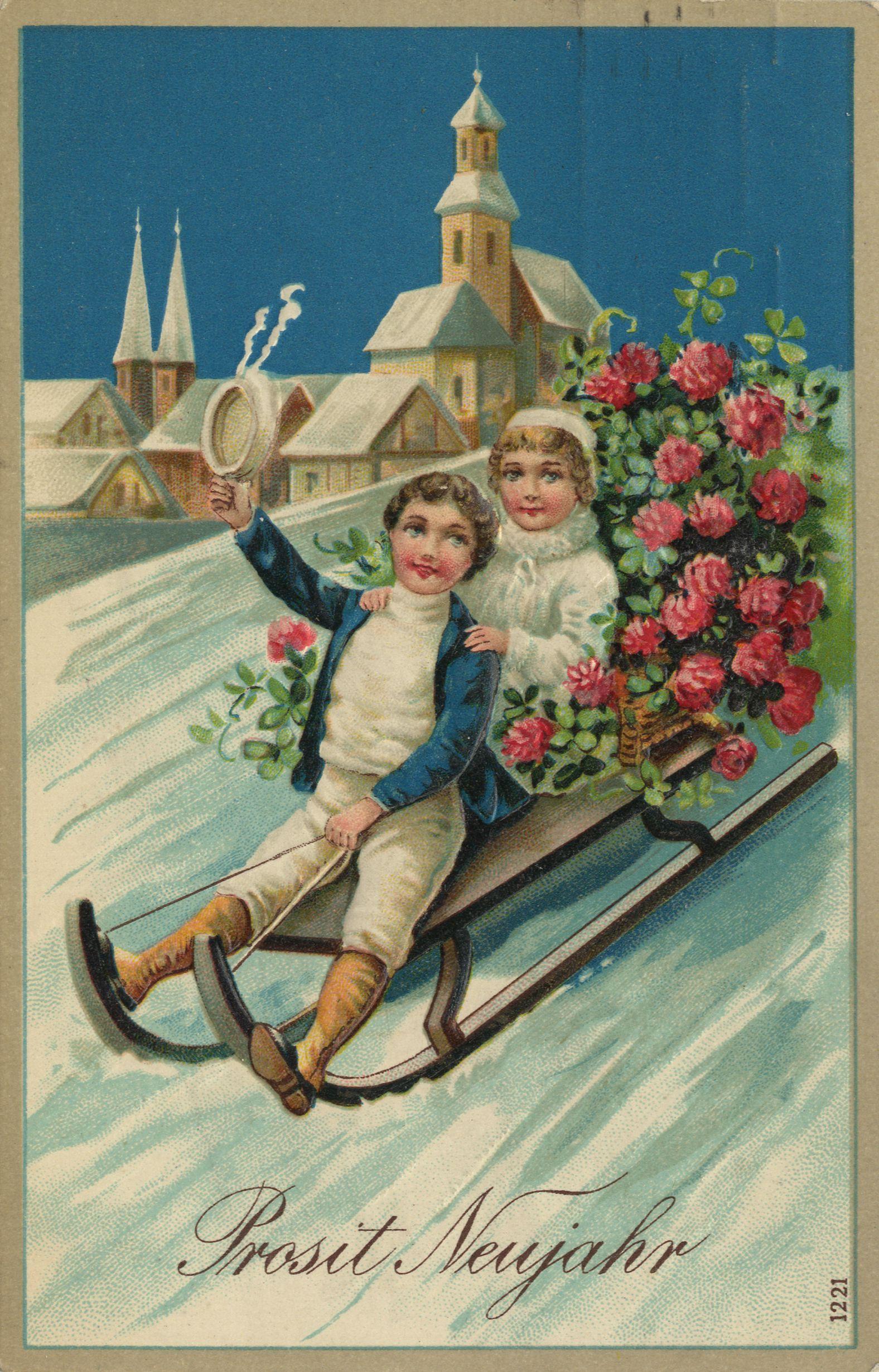 Открытки новогодние ретро картинки, открытки начальнику