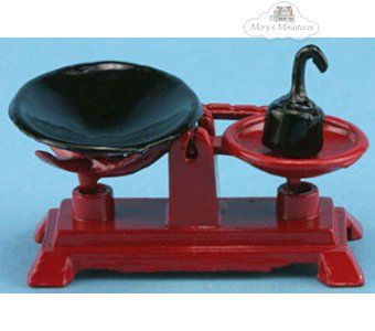 Miniature Red Country Store Scale