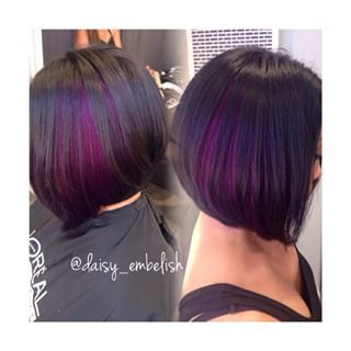 long aline bob with color