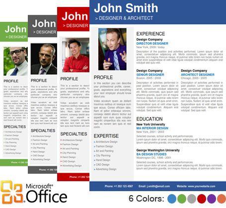 Find the Professional Resume Template on wwwcvfolio - portfolio word template