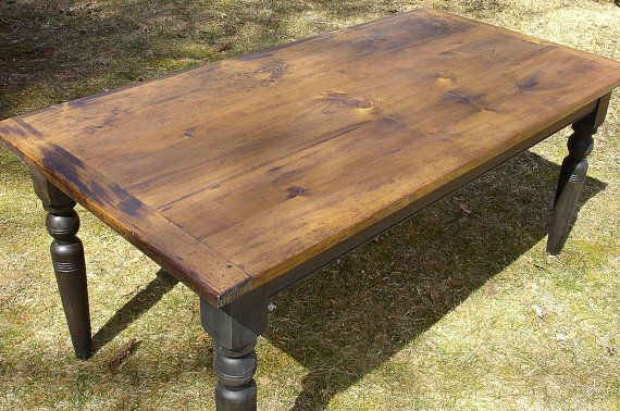 Custom Farm House Table Painted Turned Legs  by WoodworkerChris, $799.00