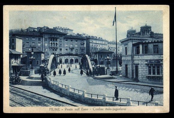 Most na Rječini, talijansko-jugoslavenska granica
