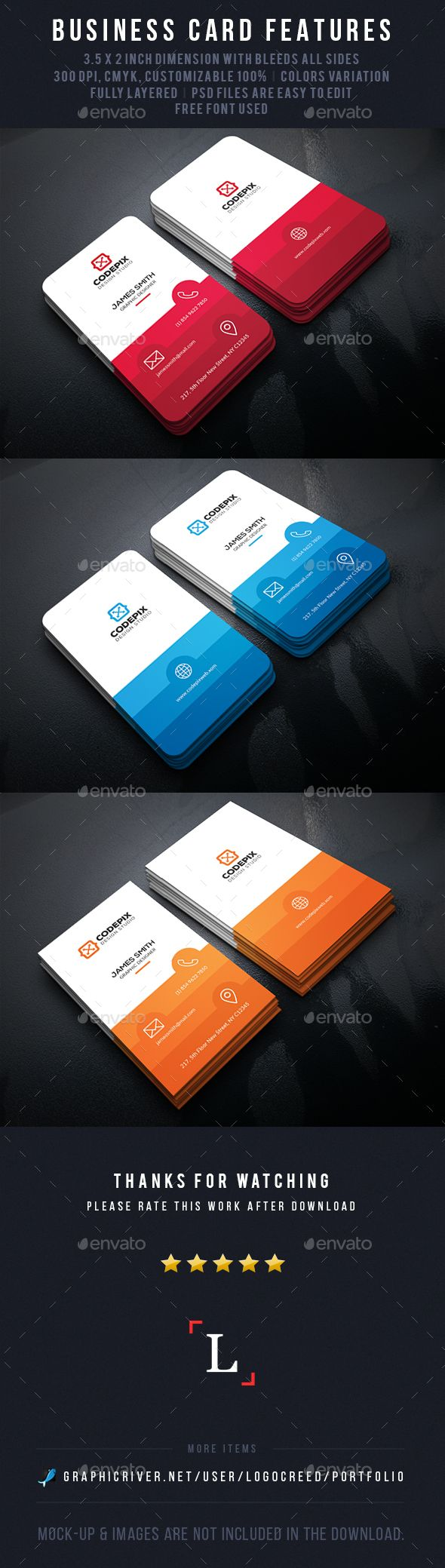 Color Shade Business Cards Color Shades Card Templates And