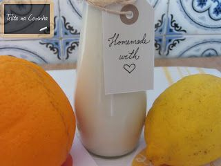 Telita na Cozinha: iogurtes líquidos limão e laranja