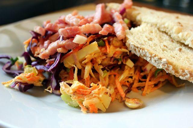 Mijn kookdagboek: Veelgroentensalade met emmentaler en spekjes